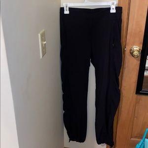 Full length black yoga pants